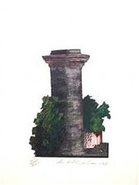 oxford gardens ii (pillar portrait) by ivor abrahams