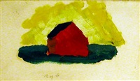untitled (red barn) by arthur dove