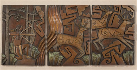 deer hunt (triptych) by tammy garcia