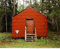 red building in forest, hale county, alabama by william christenberry