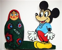 mickey mouse and matreshka by leonid sokov