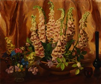 foxglove with still life by george laurence nelson