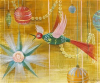 christmas-themed paintings (set of 4) by hazel janicki