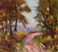 country lane landscape by harry townsend