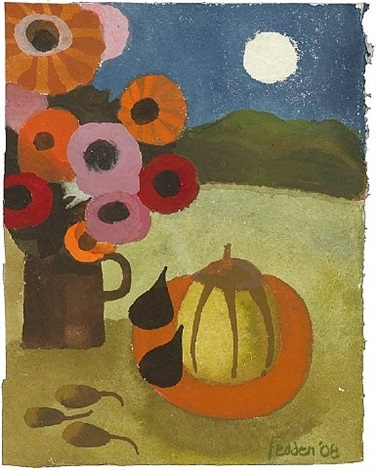 still life with full moon by mary fedden