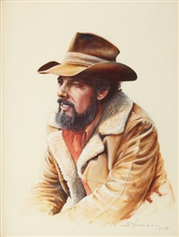 cowboy portrait by stephen hubbell