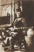 john ban mackenzie, piper to the marquis of breadalbane and the highland society by david octavius hill and robert adamson