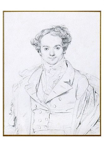portrait de jean alaux dit le romain by jean-auguste-dominique ingres