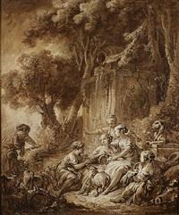 scène pastorale by françois boucher
