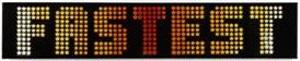 fastest (star font) by ben eine