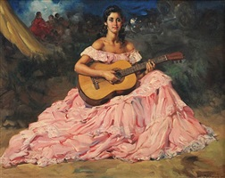 gypsy guitariste by francisco rodriguez sanchez clement