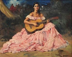 gypsy guitariste by francisco rodriguez sanchez clement