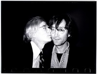 andy warhol kissing john lennon by christopher makos