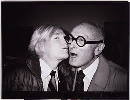 andy warhol kissing philip johnson by christopher makos