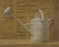 the old watering can and grain bag by elizabeth wadleigh leary