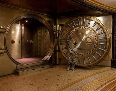 safe door (hide in the city - paris - 04) by liu bolin