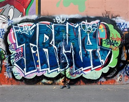 graffiti (hide in the city - paris - 07) by liu bolin