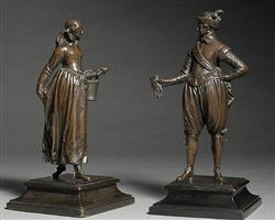 cavalier and a lady by barthélemy prieur