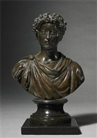 bust of the young emperor marcus aurelius