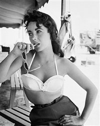 elizabeth taylor with bustier no.2 by frank worth