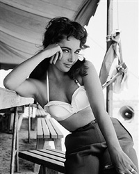 elizabeth taylor with bustier no.3 by frank worth