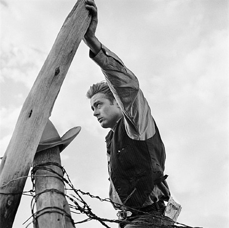 james dean leaning against pole by frank worth