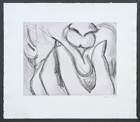 soft ground etching—lavender by bruce nauman