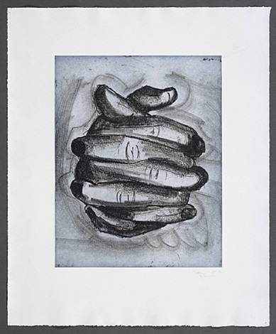 soft ground etching—blue by bruce nauman