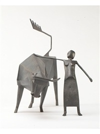 woman with bull by terence coventry