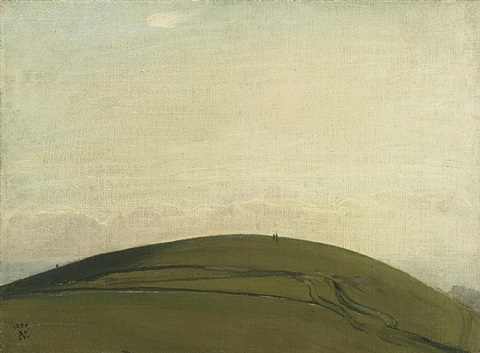 the downs, rottingdean by william nicholson