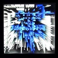 pixels infinis bleus by miguel chevalier
