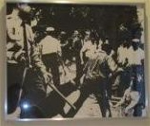 birmingham race riot by andy warhol