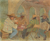 card players by harry gottlieb