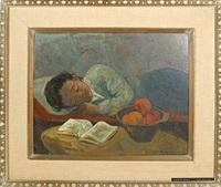sleeping woman by harry gottlieb