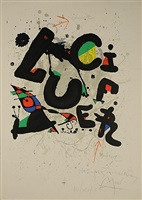 affiche pour le ballet 'lucifer' (poster for the ballet 'lucifer') by joan miró