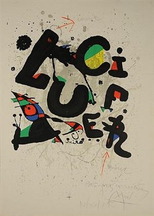 affiche pour le ballet 'lucifer' (poster for the ballet 'lucifer') by joan miró