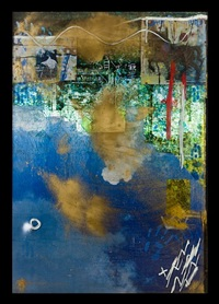 self portrait (gold in the sky), m window series by angelbert metoyer