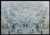 mirror of all (golden wood), m window series by angelbert metoyer