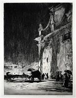rainy night in rome by muirhead bone