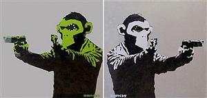 monkey guns (pair) by banksy