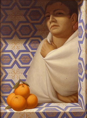 woman with oranges by george tooker