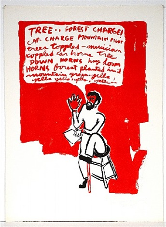 """tree"" (happening poster) by allan kaprow"