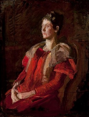 portrait of mrs. charles l. leonard by thomas eakins