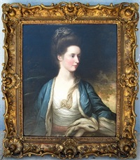 portrait of mrs. hargreave by francis cotes