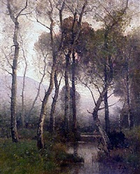 an atmospheric shady river by louis aimé japy
