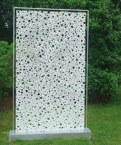 white wall of holes by michael enn sirvet