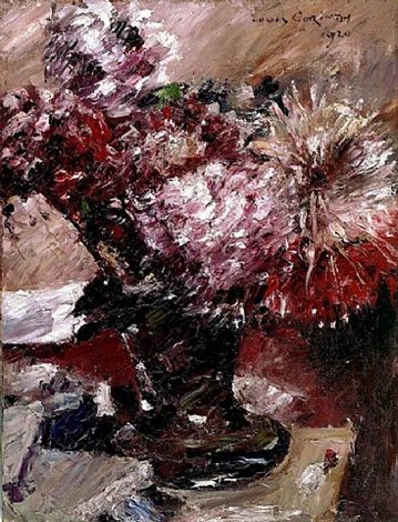 chrysanthemums by lovis corinth