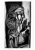 la femme a la fenêtre (bloch 695) by pablo picasso
