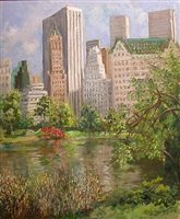 central park in spring by guy a. wiggins