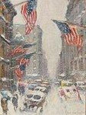 madison avenue – winter by guy carleton wiggins